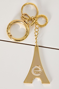 keychain plated in yellow Gold