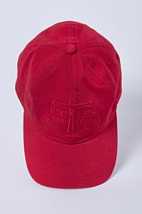Gorra color Rojo en Algodón con escudo Ancla bordado