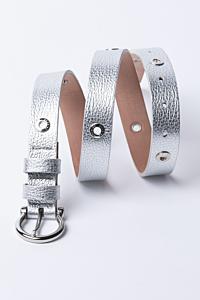 cinturón plateado de mujer