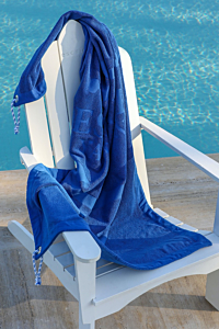 big blue navy towel