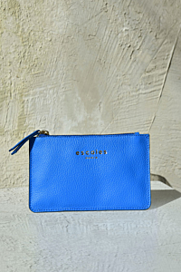 Zip-up Wallet with ESCALES logo.