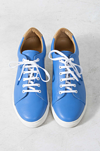 blue leather sneakers mens