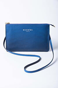 bleu leather handbag