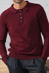burgundy sweater mens