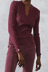 jersey burdeos mujer