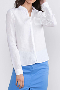 Women's white linen shirt