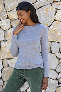 Grey cashmere jumper for woman