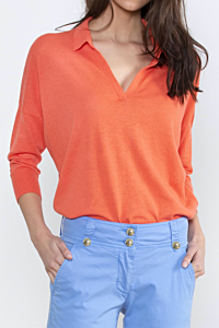 Jersey naranja coral de mujer