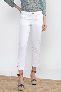 Pantalon 7 8 blanc