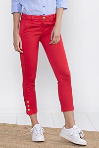 Pantaloni slim cigarette rossi da donna
