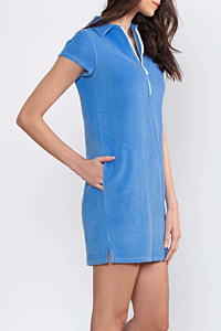 Vestito ESCALES Blu Azzurro in Spugna