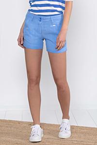 Short Lino Azul Claro de mujer