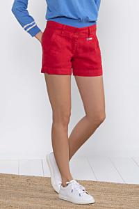 Red women´s linen short