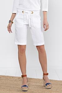 bermuda bianco lino donna