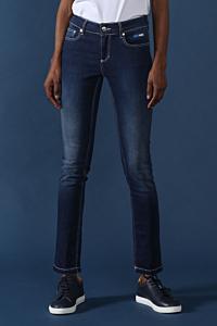 jean bleu coton femme