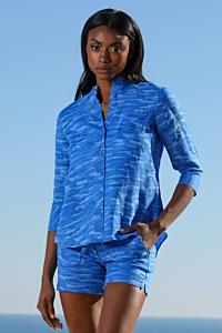 Camisa Lino Bleu Milan