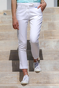 pantalon tencel blanco