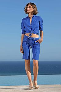 ladies linen bermuda shorts