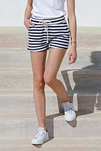 Streifen-Shorts