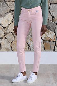 pantalons velours côtelé rose