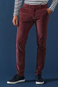 pantalon velours côtelé bordeaux