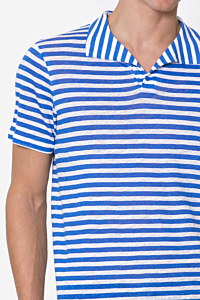 Striped Linen Polo Shirt