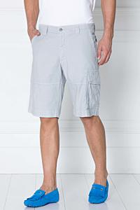 bermuda gris poches cargo pour homme