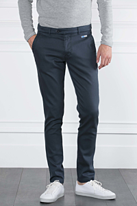 Tencel-Cotton and Elasthane blend trousers Navy blue Man