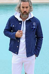 Cazadora jean de hombre color azul