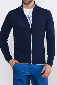 french fresh blue cardigan for man
