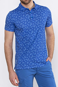 Men´s Cotton Polo with ESCALES Starfish pattern