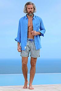 Green Pattern Swim Shorts - Men´s Swimwear