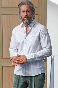 chemise popeline rayée homme