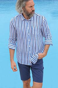 mens striped linen shirt
