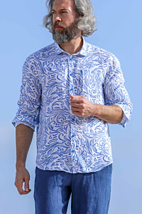 chemise a fleur homme