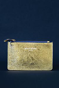 Zip-up Wallet with ESCALES logo.