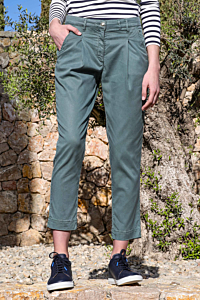 Pantalon à Pinces Tencel