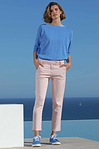 pantalon tencel rose