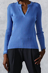 escales paris blue sweater