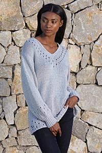 Пуловер Angelina с V-образным вырезом