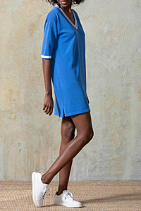 vestido jersey azul
