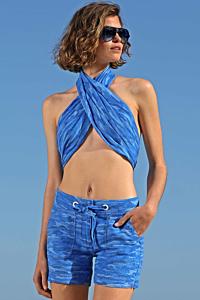 Foulard Bleu Milan