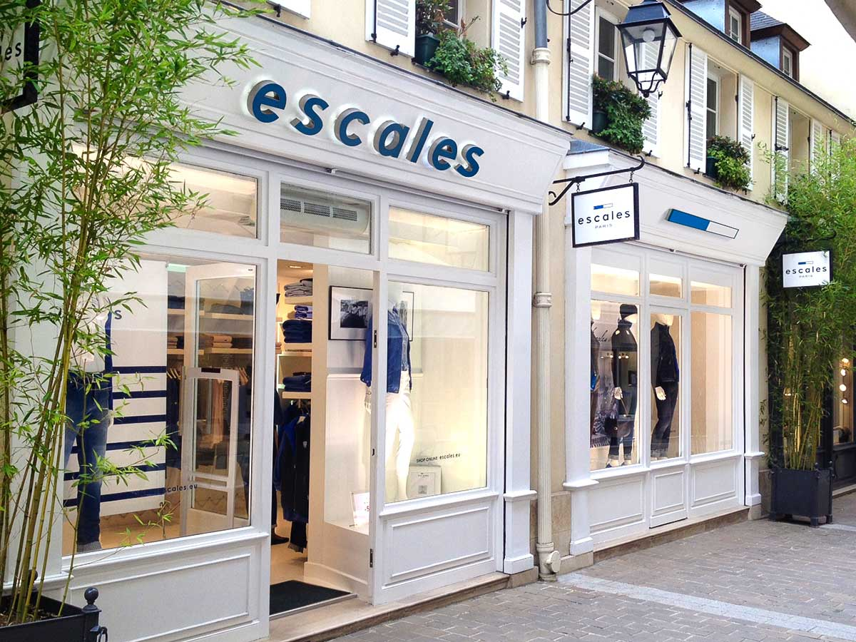 b85c6f5057c ... every ESCALES store is the expression of our values. Housed in a  neutral white